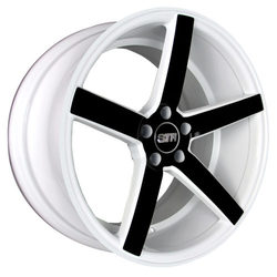 STR Racing Wheels STR 607 - White And Black Spoke