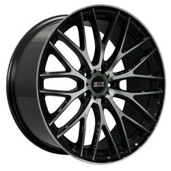 STR Racing Wheels STR 615 - Black Machine Face Rim