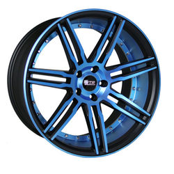 STR Racing Wheels STR 619 - Neon Blue & Blue In Lip