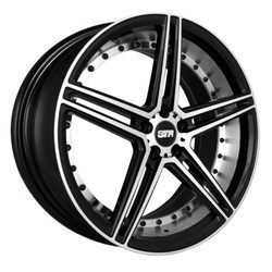 STR Racing Wheels STR 620 - Black Machine Face Rim