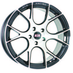 STR Racing Wheels STR 905 - Black Machine Face Rim