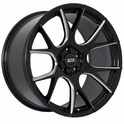 STR Racing Wheels STR 905 - Gloss Black Milled Rim