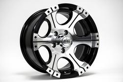 Scale 4x4 Wheels Ace - Black w/Machined Face Rim