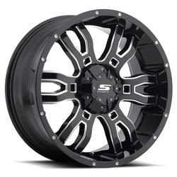Sendel Wheels S34 Sniper - Gloss Black Milled