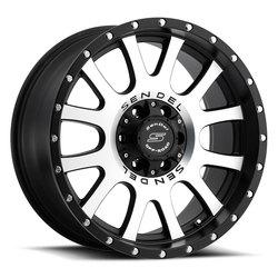 Sendel Wheels S38 Locker - Matte Black Machined - 16x8