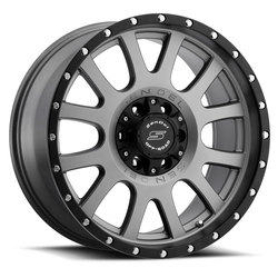 Sendel Wheels S38 Locker - Matte Graphite w/ Black Lip - 16x8