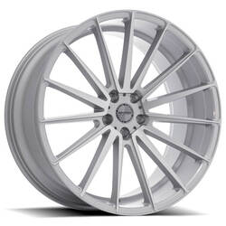 Sporza Wheels Pentagon - Silver With Brushed Face Rim - 22x10.5