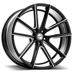 Sporza Wheels V5 - Milled Satin Black Rim - 22x10.5