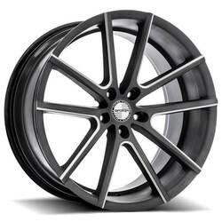 Sporza Wheels V5 - Milled Satin Graphite Rim - 22x10.5