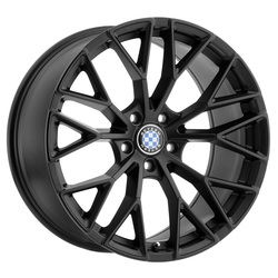 Beyern Wheels Antler - Double Black - Matte Black W/Gloss Black Face Rim - 22x11