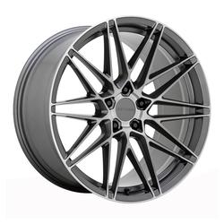 Beyern Wheels Damon - Matte Gunmetal w/Brushed Face Rim - 22x10