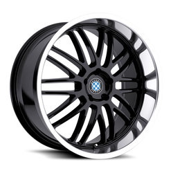 Beyern Wheels Beyern Wheels Mesh - Gloss Black W/Mirror Cut Lip - 15x7