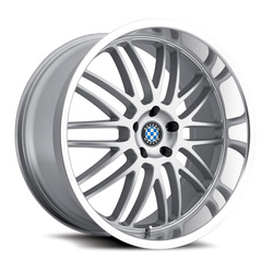 Beyern Wheels Mesh - Silver W/Mirror Cut Lip - 22x11