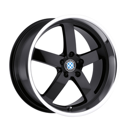 Beyern Wheels Rapp - Gloss Black W/Mirror Cut Lip Rim