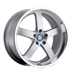 Beyern Wheels Rapp - Silver W/Mirror Cut Lip Rim - 22x10.5