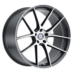 Beyern Wheels Ritz - Gloss Gunmetal W/Brushed Face Rim - 22x10.5
