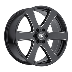 Black Rhino Wheels Haka - Gloss Black with Milled Spokes Rim - 22x9.5