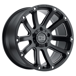 Black Rhino Wheels Highland - Matte Black with Milled Spokes - 20x9.5