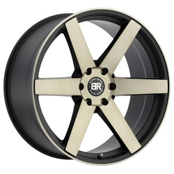 Black Rhino Wheels Karoo - Matte Black/Machined Face & Dark Matte Tint Clear