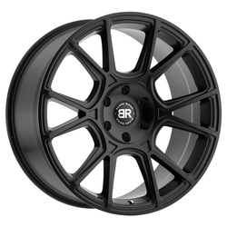 Black Rhino Wheels Mala - Matte Black - 24x10