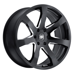 Black Rhino Wheels Mozambique - Gloss Black with Milled Spokes Rim - 22x9.5