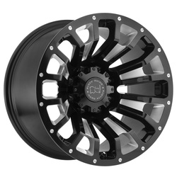Black Rhino Wheels Pinatubo - Gloss Black with Milled Inside Window - 22x12