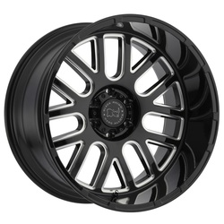 Black Rhino Wheels Pismo - Gloss Black with Milled Spokes - 22x12