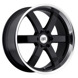 Black Rhino Wheels Pondora - Gloss Black with Machine Lip - 24x10