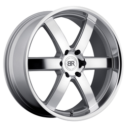 Black Rhino Wheels Pondora - Silver with Machine Face and Lip Rim - 24x10