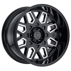 Black Rhino Wheels Predator - Gloss Black with Milled Windows - 22x12