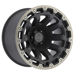 Black Rhino Wheels Razorback - Matte Black with Machine Dark Tint Lip