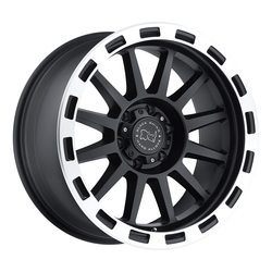 Black Rhino Wheels Revolution - Matte Black with Matte Machine Lip Edge