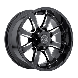 Black Rhino Wheels Sierra - Gloss black with Milled Spokes Rim - 22x10