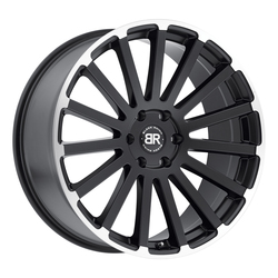 Black Rhino Wheels Spear - Matte Black with Matte Machine Lip Edge Rim - 24x10