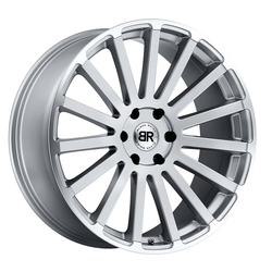 Black Rhino Wheels Spear - Silver with Mirror Cut Lip Edge