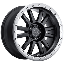 Black Rhino Wheels Tanay - Matte Black with Graphite Lip