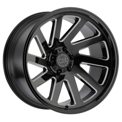 Black Rhino Wheels Thrust - Gloss Black with Milled Spokes - 20x9.5