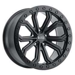 Black Rhino Wheels Trabuco - Matte Black with Black Bolts Rim - 22x10