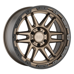 Black Rhino Wheels Apache - Matte Bronze W/Black Lip Edge & Bolts Rim - 17x8.5