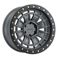 Black Rhino Wheels Dalton - Matte Gunmetal / Black Lip Rim - 17x9.5