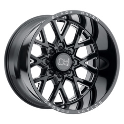 Black Rhino Wheels Grimlock - Gloss Black W/Milled Spokes - 20x9.5