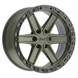 Black Rhino Wheels Black Rhino Wheels Henderson - Green W/Black Lip Edge & Bolts - 17x9