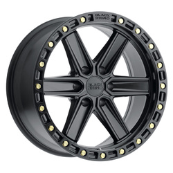 Black Rhino Wheels Henderson - Matte Black W/Brass Bolts Rim - 20x9.5