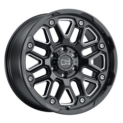Black Rhino Wheels Hollister - Gloss Black W/Milled Spokes Rim - 20x9.5