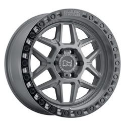 Black Rhino Wheels Kelso - Battleship Gray W/Black Lip Edge & Black Bolts Rim