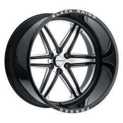 Black Rhino Wheels Marauder - Gloss Black W/Milled Spokes Rim - 24x14