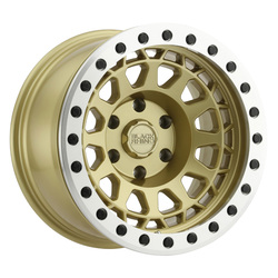 Black Rhino Wheels Primm Beadlock - Matte Gold w/Mach Ring & Black Bolts