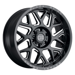 Black Rhino Wheels Reaper - Gloss Black W/Milled Spokes Rim - 20x9.5