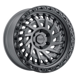 Black Rhino Wheels Black Rhino Wheels Shredder - Matte Gunmetal W/Black Lip Edge