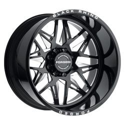 Black Rhino Wheels Twister (Right) - Gloss Black W/Milled Spokes Rim